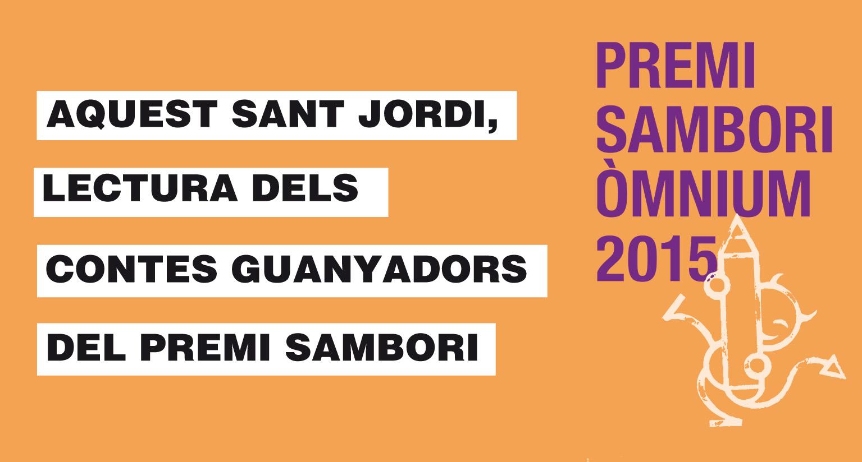 Lectura dels Premis Sambori durant el dia de Sant Jordi 2015