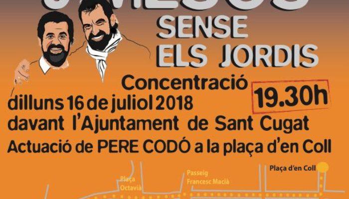 cartell concentració 9 mesos sense els Jordis