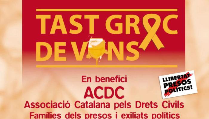 Tas groc de vins a Sant Cugat del Vallès